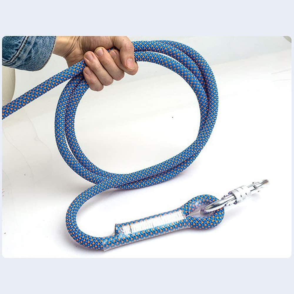 TY BEI YI GAO Safety Rope Color : 16mm, Size : 10m 16mm Outdoor wear-Resisting Rescue Survival Rope Wild Climbing Climbing Cavern Protective Rope Downhill Rope Rope Polyester Wire 14mm