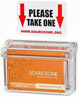 Source One Premium Outdoor Business Card Holder Peel and Stick Clear Unbreakable