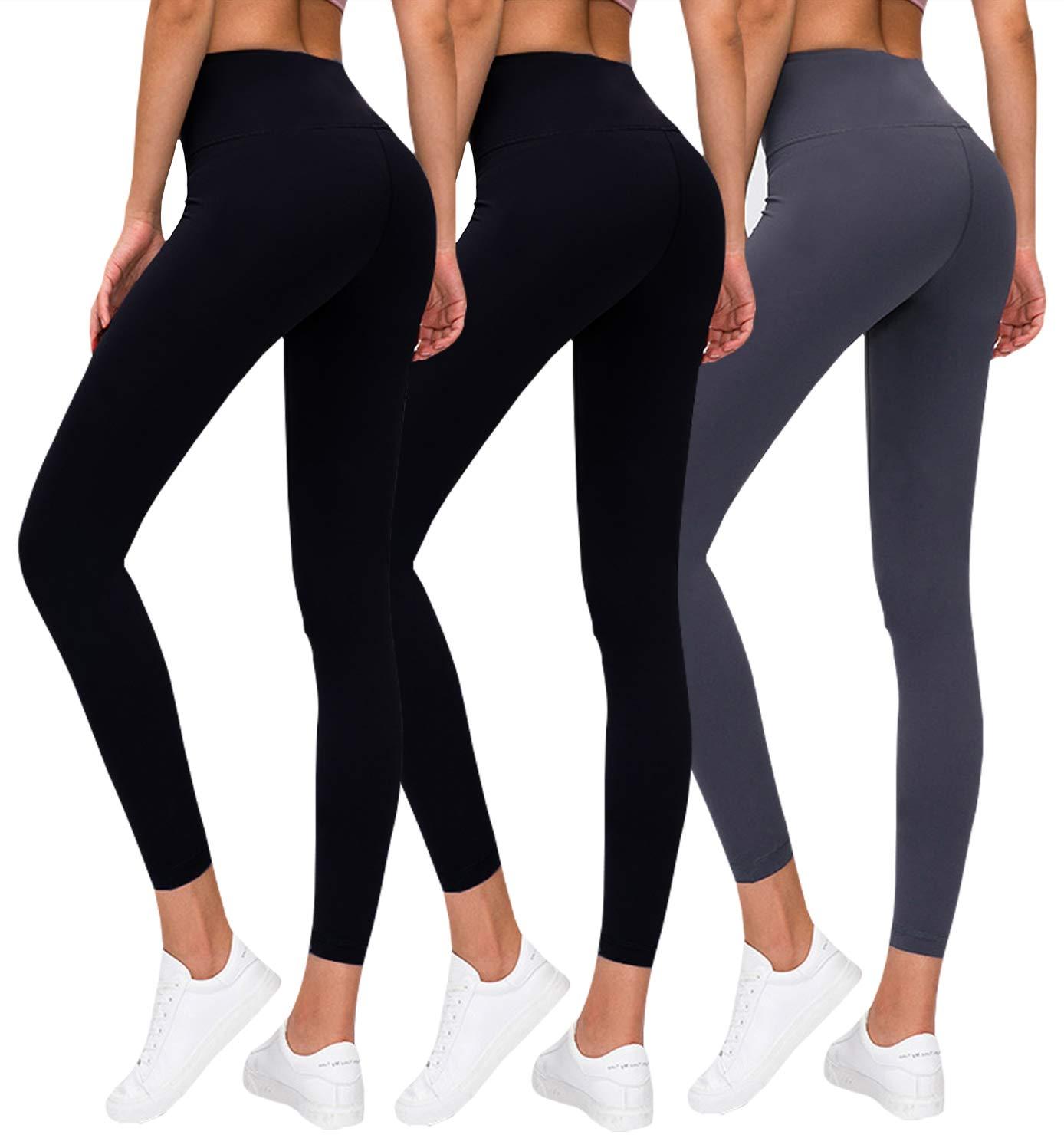Premium Womens Leggings Soft High Waist Slimming Leggings Tummy Control Workout Yoga Pants