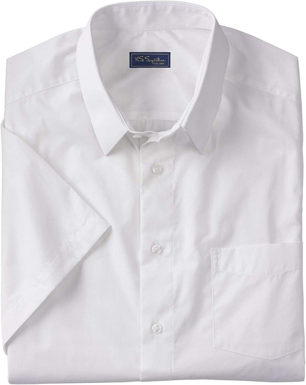 KS Signature by Kingsize Men's Big & Tall No Hassle Short-Sleeve Dress Shirt
