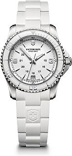 Victorinox Swiss Army Womens Quartz Watch, Analog Display and Rubber Strap - 241700