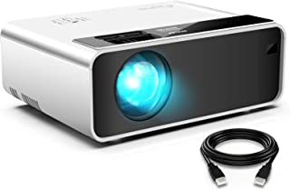"""Mini Projector for iPhone, ELEPHAS Movie Projector with 1080P HD Portable Projector with 4200 Lux and 200"""" Screen, Compati..."""