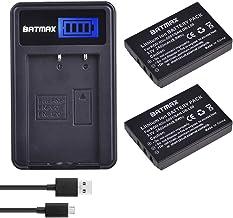 Batmax 2x 2400mAh KLIC-5001 Li-ion Battery + LCD USB Charger for Kodak Easyshare P712 P850 P880 Z730 Z760 Z7590 DX6490 DX7...