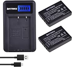 Batmax 2x 2400mAh KLIC-5001 Li-ion Battery + LCD USB Charger for Kodak Easyshare P712 P850 P880 Z730 Z760 Z7590 DX6490 DX7440 DX7590 DX7630 Zoom and Sanyo DB-L50 DMX-WH1 HD1010 FH11 HD2000 VPC-WH1 HD2