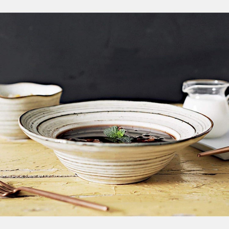 WSY Bol en céramique créatif Bol à Salade Bol pour la réunion de Famille adapté pour Lave-Vaisselle Micro-Ondes gris 6  20 cm (Couleur   6 Packs)