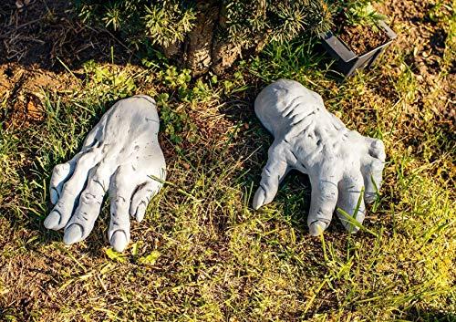 Originelle Gartendeko oder Hochzeitsgeschenk Set rießige Hände Mann und Frau filigran muskulös handgefertigt frostfest Deko für Garten Terassen Steinfiguren