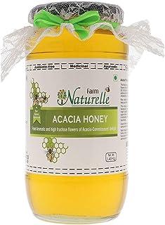 Farm Naturelle-Virgin 100% Pure Raw Natural Unprocessed Acacia Jungle/Forest Flowers Honey- 1.45 KG Big Glass Bottle
