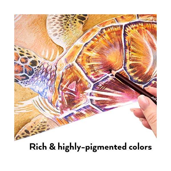 Arteza Estuche de lápices de colores para dibujo profesional | Caja de 72 unidades | Lápices de dibujo artístico | 72…