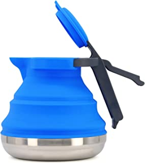 Collapsible Camping Kettle for Hiking, Travel & Outdoors 42 Ounce Capacity