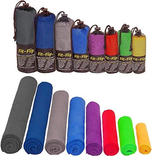 Mikrofaser Handtücher in ALLEN Größen / 12 Farben – klein, leicht und...