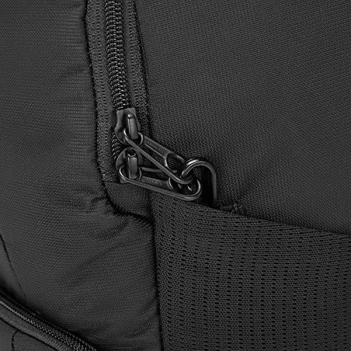 Pacsafe Metrosafe LS450 25 Liter Anti Theft Laptop Backpack - with Padded 15' Laptop Sleeve, Adjustable Shoulder Straps, Patented Security Technology (Black)