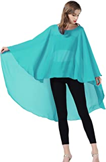 Chiffon Capelet Sheer Bridal Shawl For Women Materbity Cape Plus Size Poncho Wrap Multiple Colors