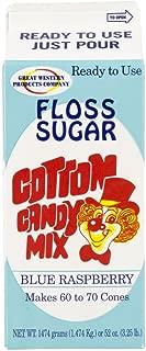 Perfect Stix Floss Sugar Blue Raspberry-1 Cotton Candy Floss Sugar-Blue Raspberry (1 Carton)