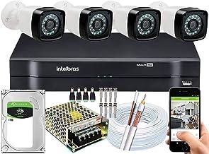 Kit Cftv 4 Câmeras Segurança Full Hd 1080p Dvr Intelbras 1TB