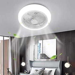XIYUN 照明器具 天井ledライト、ハンディファン リモコン付き 照明ファンランプ 三段風速 調光調色 6畳~10畳 洋室 和室照明 おしゃれ照明 72W 6400LM 白
