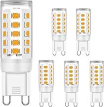 G9 Ledlampen, warmwit, 5 W, komt overeen met 28 W, 33 W, 40 W, G9 kristallen plafondlampen, G9 fitting LED-lampen, 2700 K,...