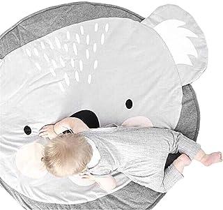 Baby krypmatta aktivitet gym golvmatta baby äventyrsmatta bomull barngolv lek spelmatta barn rund krypmatta söta djur för ...