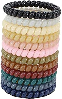 50 hair ties assorted color double wire phone cord hair ties small size telephone cord hair tie