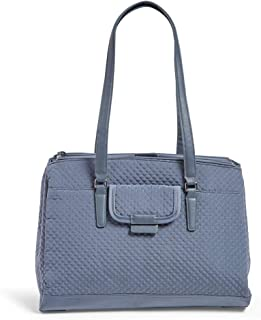 Vera Bradley Women's Microfiber Commuter Tote Totes, Charcoal, One Size