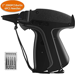 Standard Price Tagging Gun, Clothing Clothes Label Tag Gun with 2000Pcs 2'' Barbs Fasteners Attachment & 6 Needles Family Yard Sale Tagging Gun Set