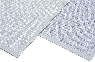 ウェーブ プラ=プレート 【目盛付:ブルー】 B5 グレー 0.3mm
