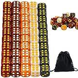 Dados multicolor tonos ocres - 50 Piezas