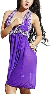 eb9a81439ac Fainosmny Women Sleepwear Dress 2PCS Sexy Dress Ladies Lingerie Sleepwear  Women Plus Size Lace Underwear Night