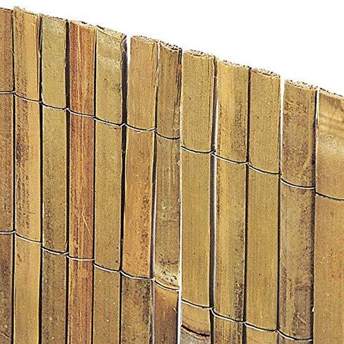 ARELLA bambù per RECINZIONI A Canna SPACCATA Varie Misure (Altezza 1 Metro x Larghezza 3 Metri)
