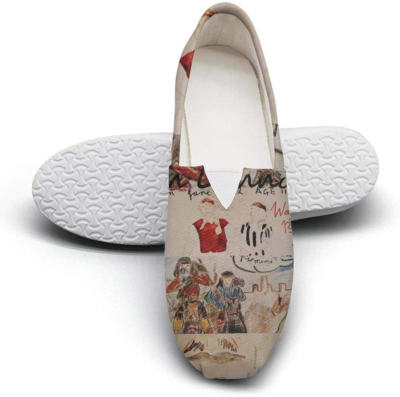 Uter ewjrt Women Girls John-Lennon-Walls-and-Bridges- Wear-Resistant Track Running shoes Canvas Camping Sneaker