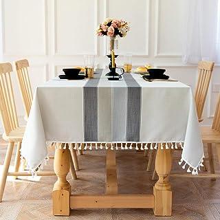 LMWB Bordsskydd, bordsduk, tyg bomull och linne tyg konst enkel modern matbord soffbord skydd duk bordsduk hushåll B 135 x...
