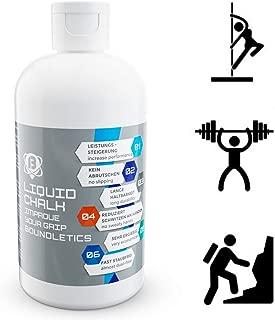 Tiza Líquida - La mejor tiza líquida para un mejor grip al alzar pesas, escalar, pole dance, gimnasio y fitness - Mejora tu agarre y reduce la sudoración - Secado Rápido - 250 aplicaciones - 250ml