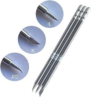 T12 soldering iron tip interchageable with HAKKO T15 T12 for ShineNow T12 soldering station, HAKKO FX-951 FX-952 3pcs(K+J02+IL)
