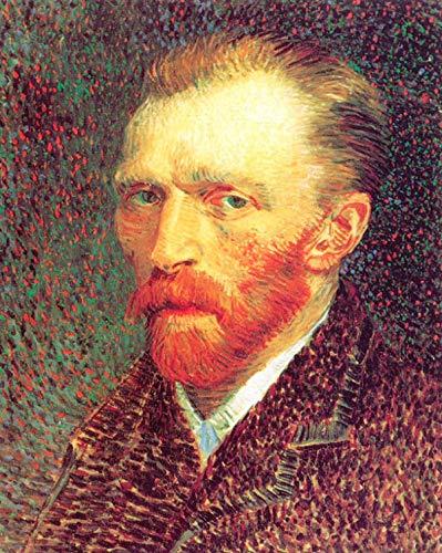 zqyjhkou 5D-DIYDiamond drawing Replicas of Van Gogh's famous painting series 29 5D Diamond Painting Art Full Drill Kits Living Room Bedroom Wall Decoration Round diamond 40x50cm(Frameless)