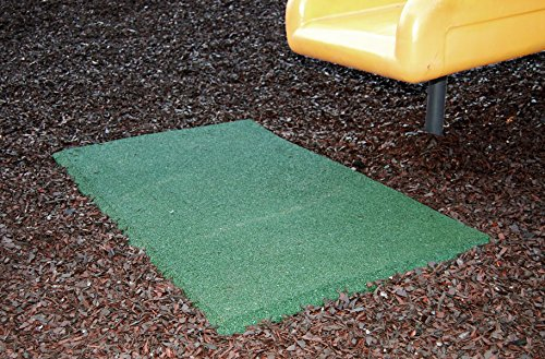 IncStores Playground Swing Mats 2 in x 32 in x 54 in Durable Rubber Outdoor Non-Slip Protection Under Playground Equipment