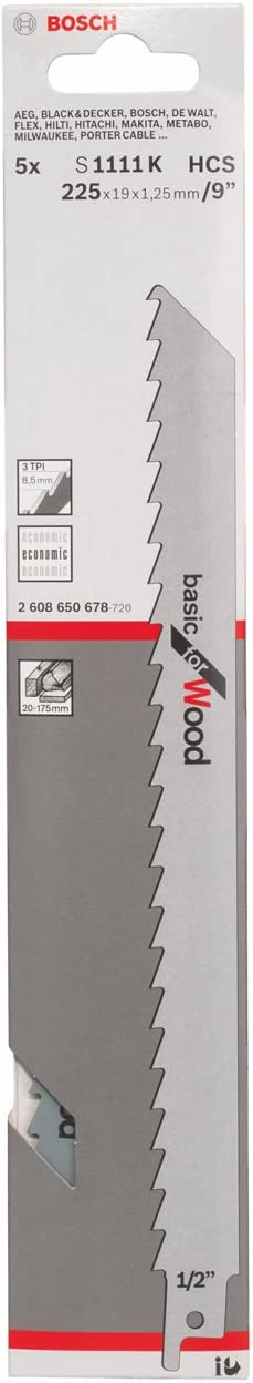 Bosch 2608650678 Saber Saw Blade 5 Japan Maker New K S1111 Pcs Limited time trial price