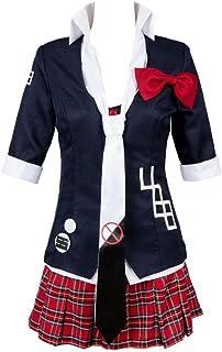 afd2921ecd Helymore Donne Anime Gioco Cosplay Junko Enoshima Costume Uniforme  Scolastica Mezza Manica Set Completo
