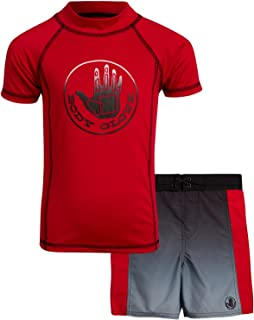 Body Glove Boys 2-Piece UPF 50+ Rash Guard Swimsuit Set