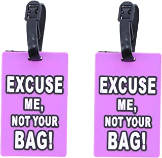 Luggage Tag Humor Pack Up and Leave - Set of 2