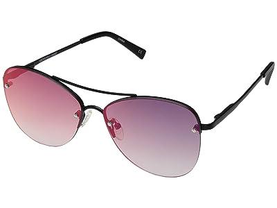 Le Specs Fortifeyed (Matte Black/Ice Fire Revo Mirror) Fashion Sunglasses