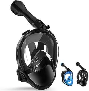 comprar comparacion LBHMEI - Máscara de Buceo Completa con Campo de visión de 180°, máscara Completa de Buceo con Soporte para cámara, antivah...
