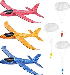 NUOBESTY 3PCS Foam Glider Airplane Kids Throwing Foam Plane Set Flying Aeroplane Model Outdoor Sports Toys Birthday Holida...