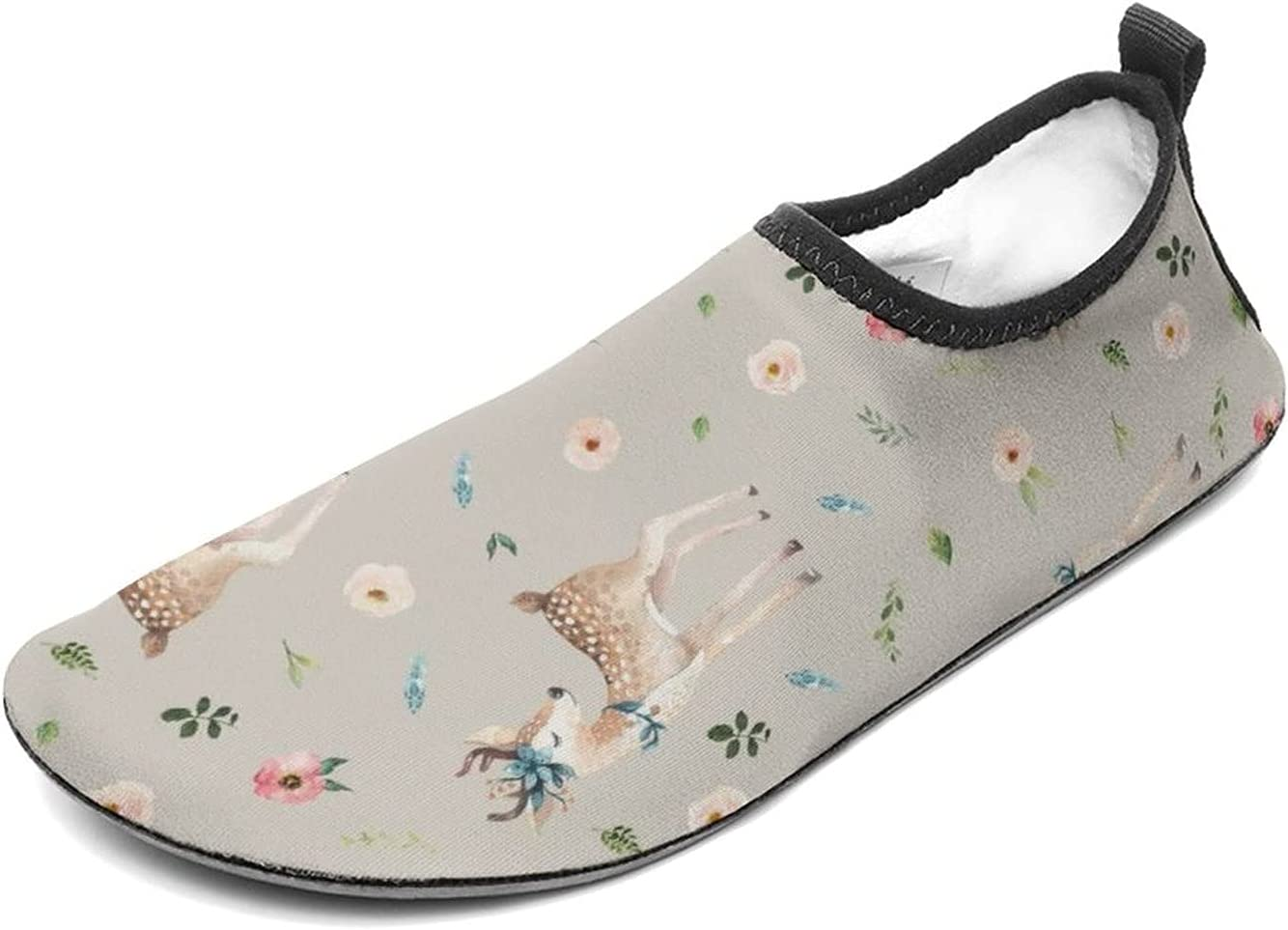 WEEDKEYCAT Max 59% OFF Max 86% OFF Floral Deer Fun Water Shoes Socks for Men Aqua Women