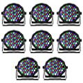 SHEHDS LED Stage Lights 8pcs 54x3W LED Par Light RGBW DMX Stage Lighting for DJ Show,Club,Home Party,Concert
