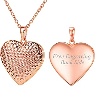 Locket Necklace with Rolo Chain 22