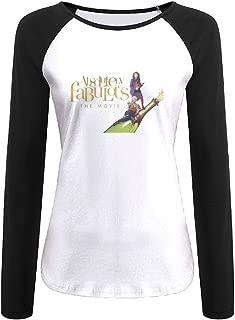 Creamfly Womens Absolutely Fabulous Long Sleeve Raglan Baseball Tshirt