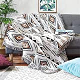 Homesy Soft Southwest Throw Blankets Double Sided Aztec Southwest Throws Cover Multi-Function for Couch Chair Sofa Bed Outdoor Beach Travel 51'x63'
