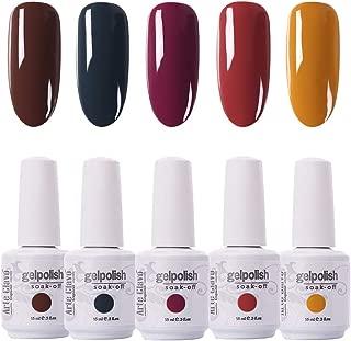 Arte Clavo 15ml Varnish Soak Off UV Led Nail Gel Polish Nail Art Salon Set 519 of 5 Colors