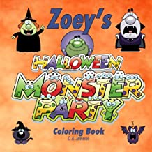 Zoey's Halloween Monster Party Coloring Book