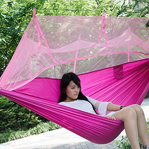 LIXONG Camping Hammock with Mosquito Net - 2 Person Ultra-lightweight Outdoor Travel Hammocks for Camping Hiking Backpacking