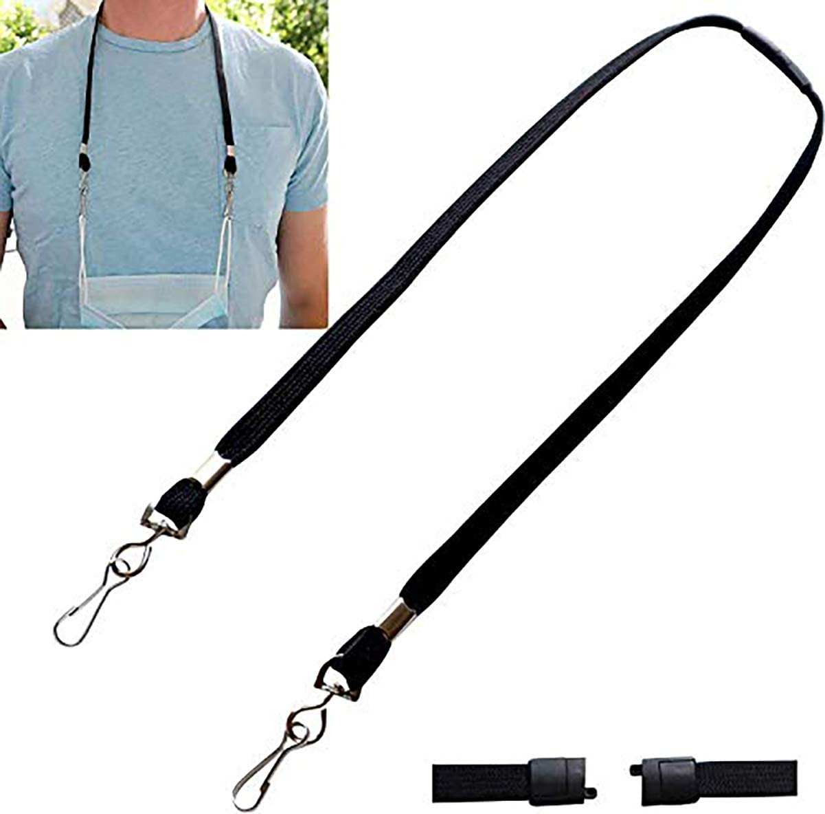 5 Pack - Face Ranking TOP12 Mask Lanyard Breakaway Size with Ranking TOP6 Adult Le Safety
